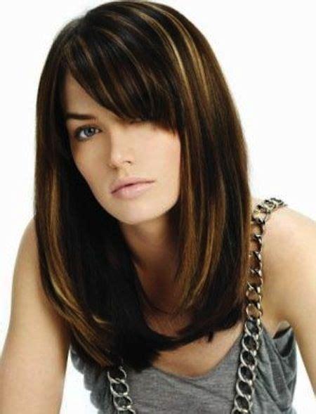side shots of lob hair styles peekaboo bangs with long straight hair kelly rowland