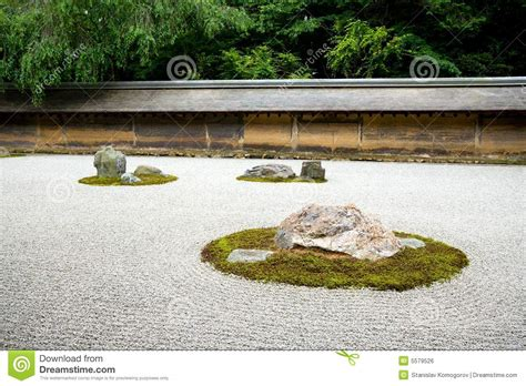 Zen Rock Garden Kyoto Japan Stock Photo Image 5579526 Rock Garden Kyoto
