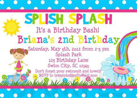 Birthday Party Invitation 2 Kids