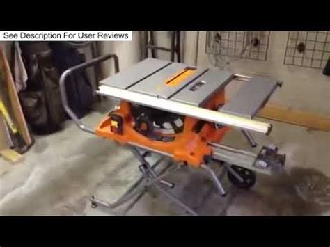 Ridgid 10 15 Amp Heavy Duty Portable Table Saw With