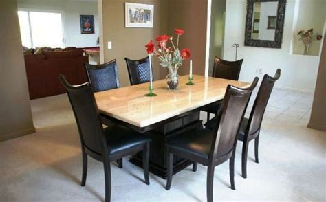 granite dining room tables 20 best granite top dining table designs for your dining