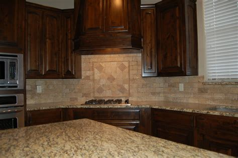 kitchen backsplash granite beautiful kitchen dark custom cabinets tumbled marble