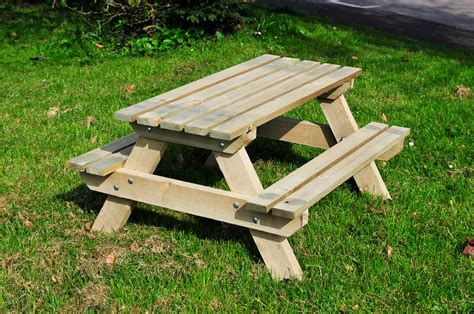 childrens picnic benches handmade the wooden workshop