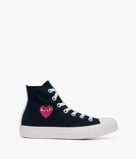 comme des garcons mens sneakers comme des gar 231 ons canvas high top sneakers in black for