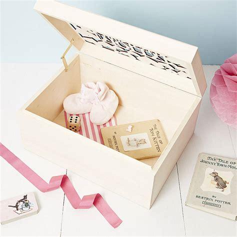 large personalised large personalised baby keepsake box by