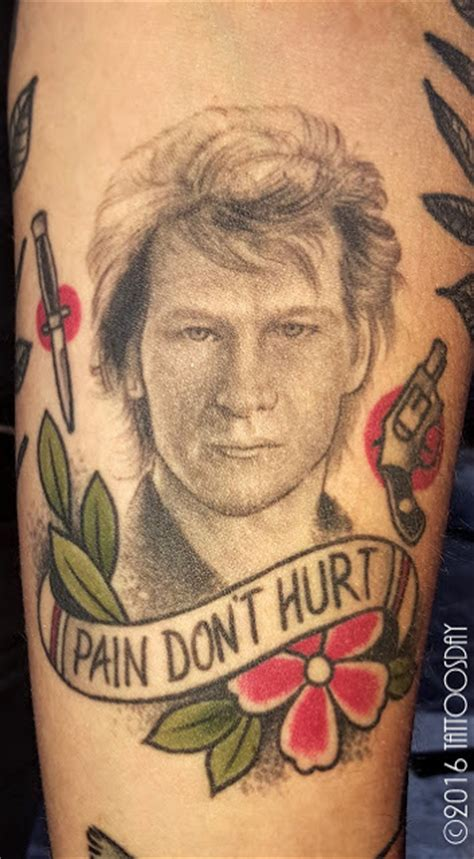 patrick swayze tattoo tattoosday a musician monday louis