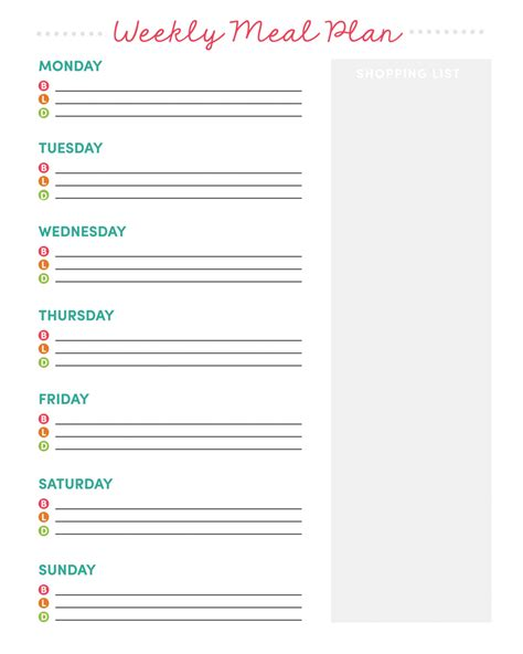 diy grocery list meal planner for love of exploration