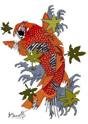 zombie koi fish tattoo fish tattoos png transparent fish tattoos png images
