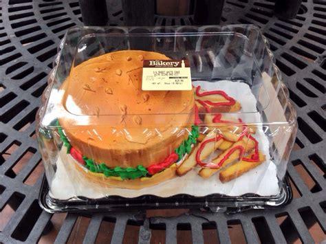 burger cake  walmart waste  pic pinterest burger cake burgers  cake