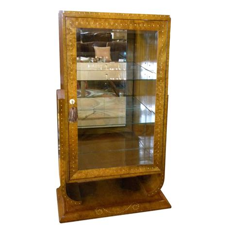 Deco Cabinets by Deco Display Curio Bar Cabinet In Ruhlmann Style