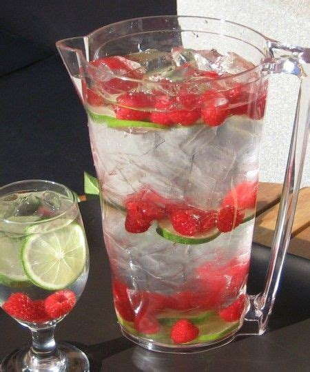 Raspberry Lime Water Detox by Best 25 Spa Water Ideas On Flavored Water
