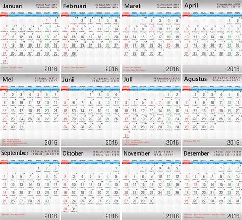 vektor desain kalender 2016 vektor kalender premium dan vektor cdr gratis