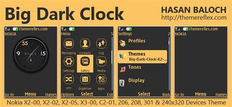 themes clock c1 big ropa clock live theme for nokia x2 00 x2 02 x2 05
