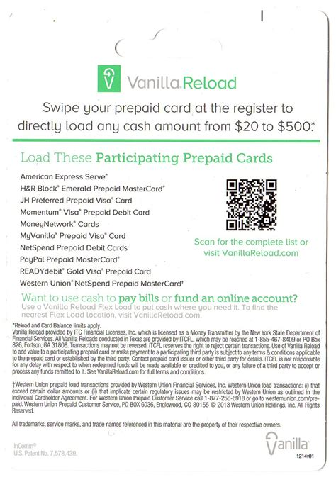 Can You Add Money To A Vanilla Visa Gift Card - new vanilla reload flex load cards at walgreens cash only