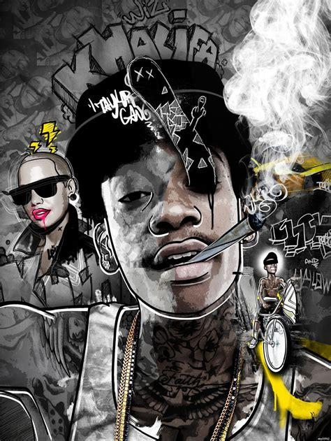 compra wiz khalifa sudaderas online al por mayor de china wiz khalifa humo hip hop del arte de impresi 243 n poster 24