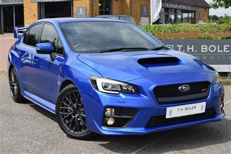blue subaru wrx 2014 subaru wrx sti type uk petrol blue manual 163 19 995