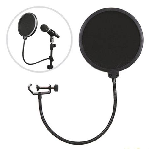 Promo Condenser Microphone Phone Stand Holder 360 Degree 360 degree gooseneck holder layer studio speaking recording microphone mic wind