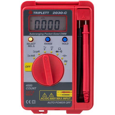 Multi Tester Digital Kecil Pocket Size Digital Multimeter Dt830b triplett 2030 c compact pocket sized digital multimeter