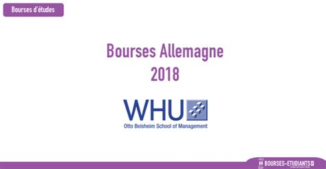 Whu Mba Scholarships by Bourses D 233 Tude Allemagne 2018 Whu Otto Beisheim