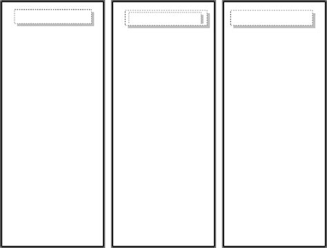 Bookmark Template In Word And Pdf Formats Large Bookmark Template