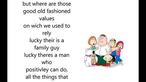 Theme To Family Guy Lyrics | family guy theme song lyrics youtube