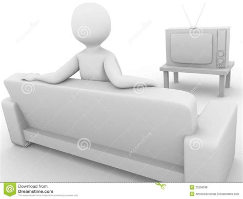 free couch tv watching television royalty free stock photos image