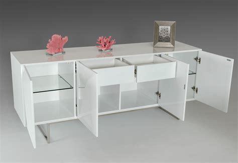 vanguard modern white buffet buffets dining room