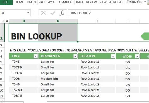 layout bin download warehouse inventory excel template