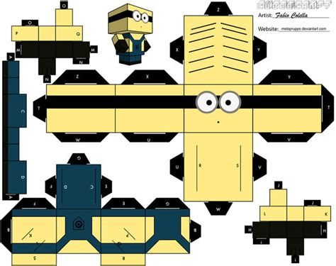 Despicable Me Papercraft - how to create a papercraft minions despicable me 日本語
