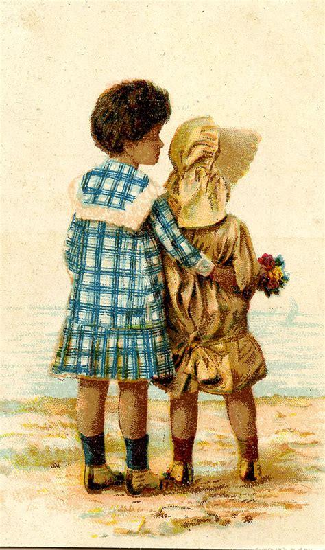 vintage graphic sweet black children sunbonnet