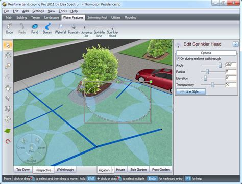 irrigation layout software landscaping software features