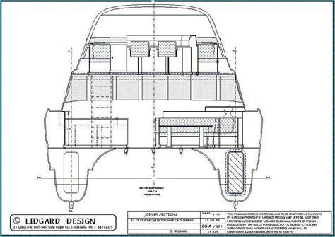 catamaran hull dimensions 53 ft power catamaran