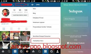 cara membuat akun instagram dari hp android cara membuat 2 akun instagram dalam 1 hp android
