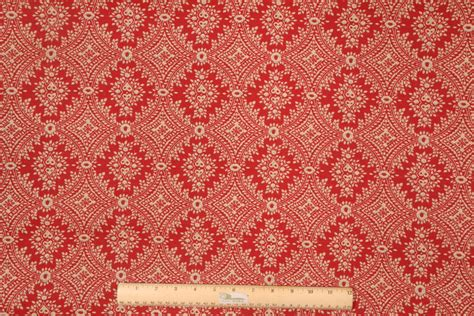 red drapery fabric designer printed cotton drapery fabric in red