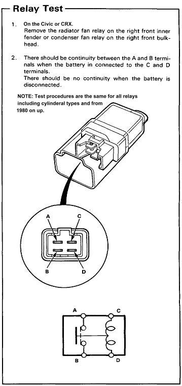 91 crx dx w b16 radiator fan relay wiring help pics