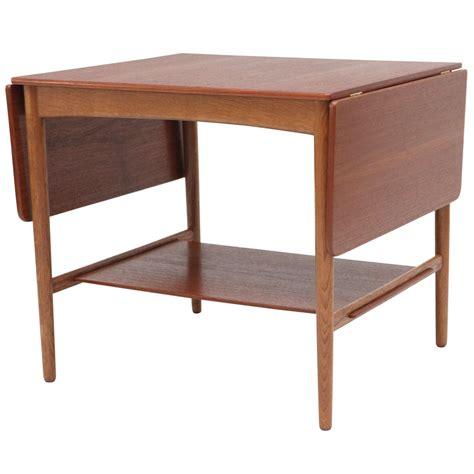 Drop Side Table Hans Wegner Drop Leaf Side Table For Sale At 1stdibs