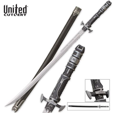 High Carbon Kitchen Knives united cutlery samurai 3000 futuristic katana sword budk