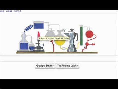 google icon bunsen 200 year 2011 voyage google wishes creator of bunsen burner happy 200th