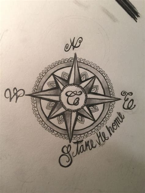 compass tattoo with family initials meaning 1000 images about tats on pinterest mandala compass