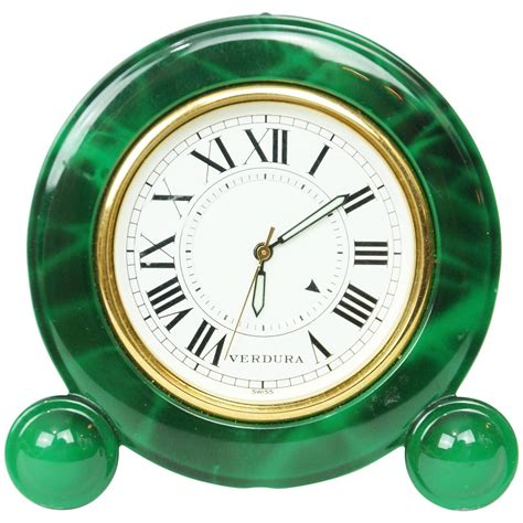 Small Decorative Desk Clocks Small Green Enamel And Brass Desk Clock By Verdura At 1stdibs
