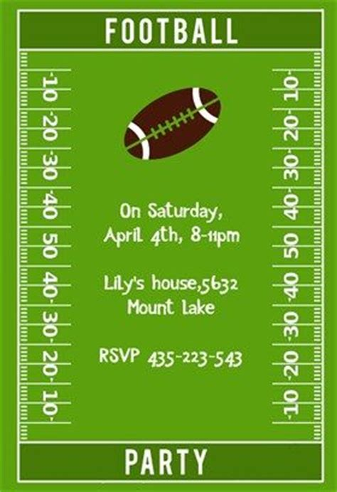 football party party invitation template