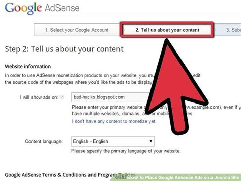 Adsense Us Tutorial how to place adsense ads on a joomla site 12 steps