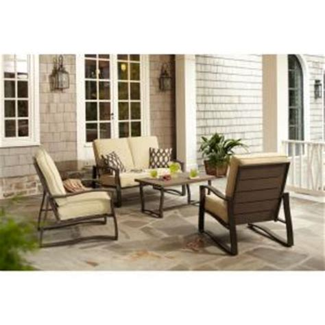 hton bay ridgefield 4 patio conversation set