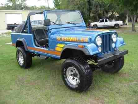 jeep scrambler blue buy used 1983 jeep scrambler 4x4 original 6 cyl 5 sp