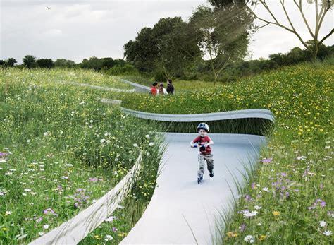 backyard river design penda designs river inspired landscape pavilion for china s garden expo archdaily
