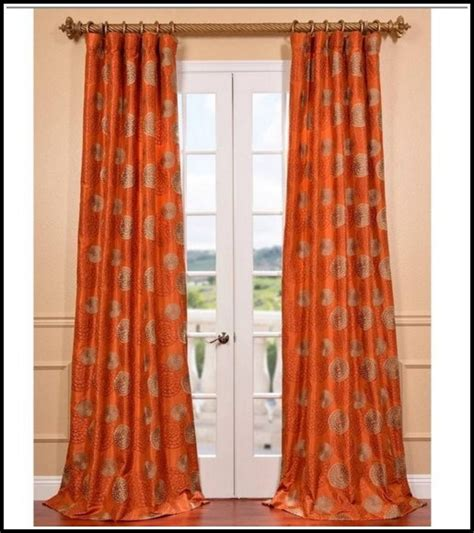brown orange curtains brown and burnt orange curtains curtain ideas brown and