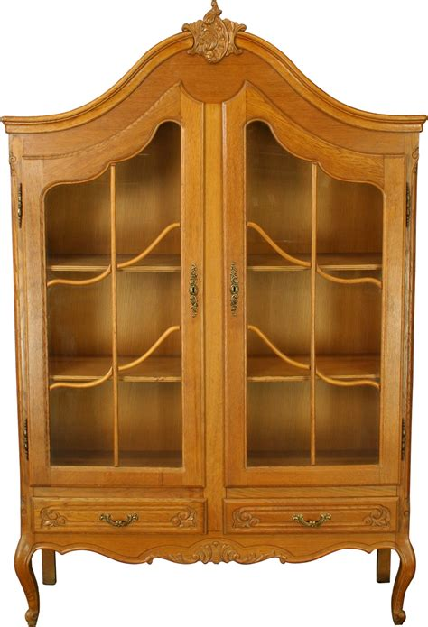 Country China Cabinet Hutch by Vintage Country Louis Xv Oak China Cabinet Hutch Ebay