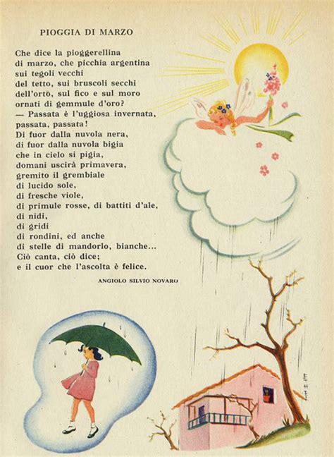 canzoni per neonati con testo che dice la pioggerellina di marzo i testi della