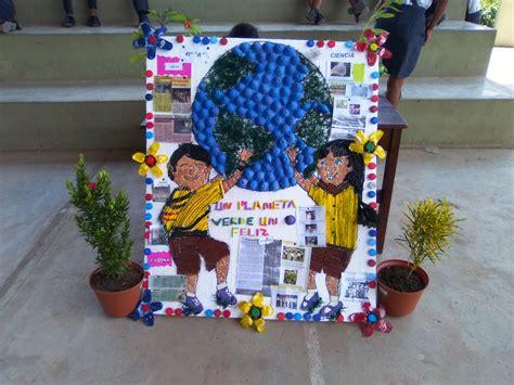 pancarta sobre el medio ambiente con material reciclable i e husares concurso de peri 243 dico mural y pancartas