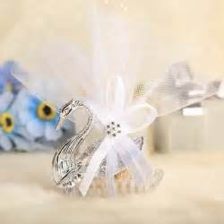 Swan Wedding Favors by Swan Design Favor Holders With Ribbons Set Of 12